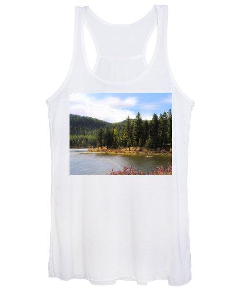 Salmon Lake Montana Women's Tank Top