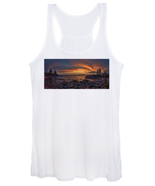 Sand Harbor Sunset Panorama Women's Tank Top