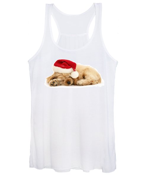 Santa's Sleepy Spaniel Women's Tank Top