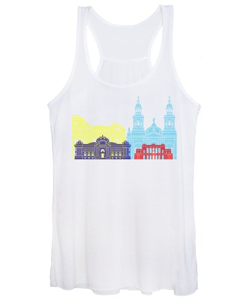 Santiago De Chile V2 Skyline Pop Women's Tank Top