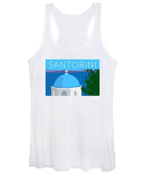 Santorini Dome - Blue Women's Tank Top