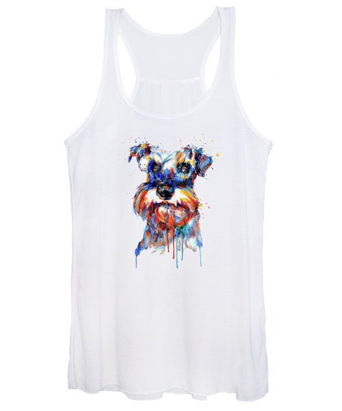 Schnauzer Head Women's Tank Top