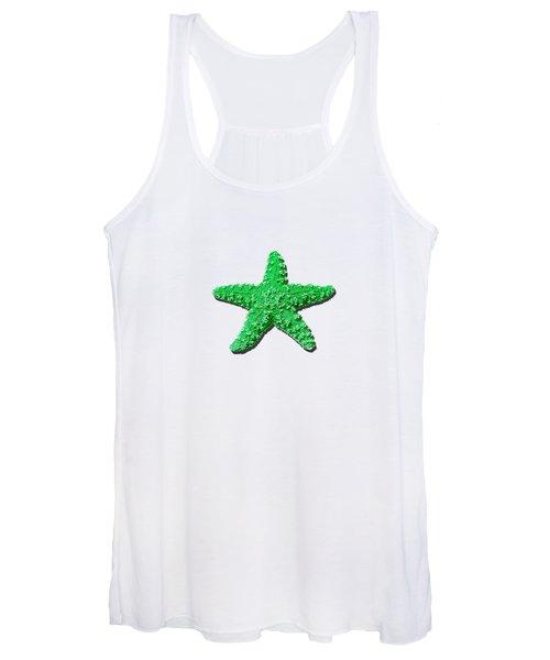 Sea Star Green .png Women's Tank Top