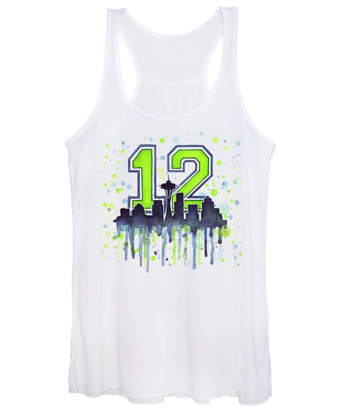 Seattle Seahawks 12th Man Art Women's Tank Top
