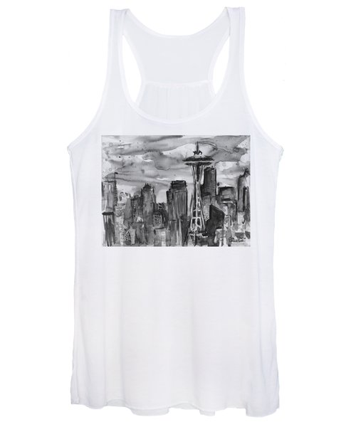 Seattle Skyline Space Needle Women's Tank Top