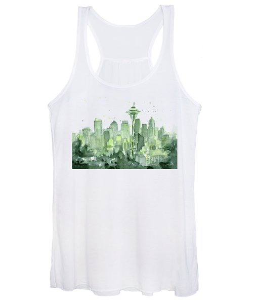 Seattle Watercolor Women's Tank Top