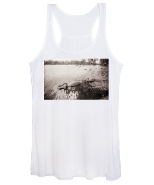 Sepia Swans Women's Tank Top