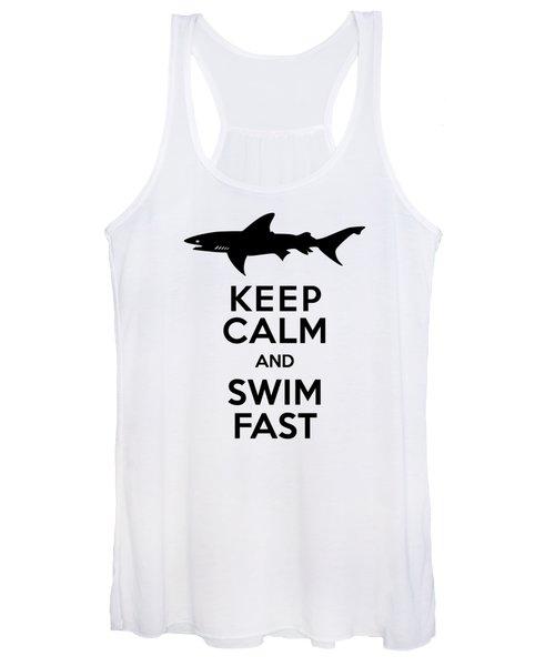 Sharks Keep Calm And Swim Fast Women's Tank Top