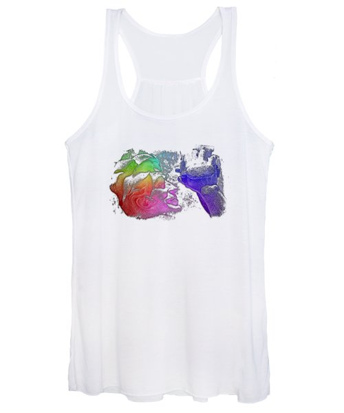 Shoot For The Sky Cool Rainbow 3 Dimensional Women's Tank Top
