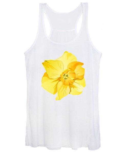 Short Trumpet Daffodil In Yellow Women's Tank Top