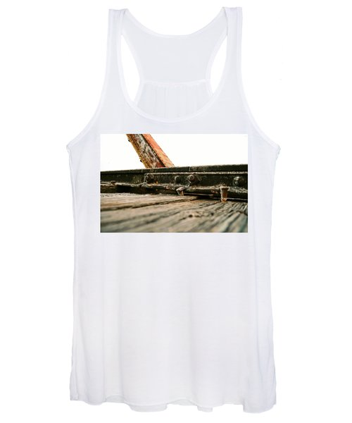 Side Of Rail #photography #trains Women's Tank Top