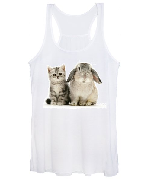 Silver Tabby And Rabby Women's Tank Top