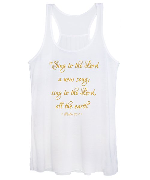 Sing To The Lord A New Song Bible Quote Women's Tank Top