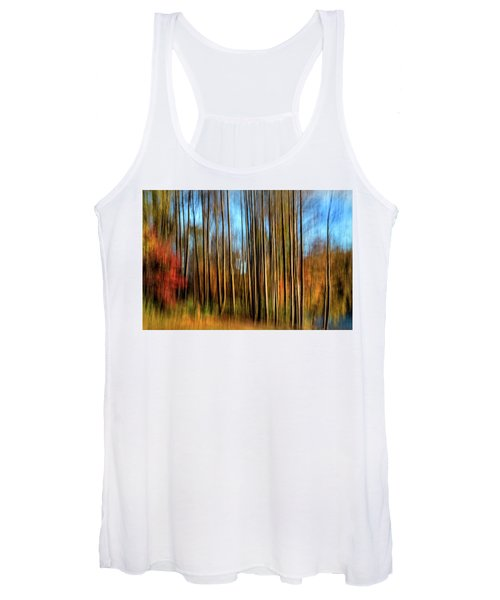 Skinny Forest Swipe Women's Tank Top