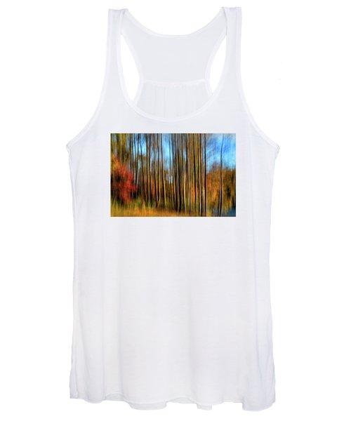 Skinny Forest Swipe Women's Tank Top