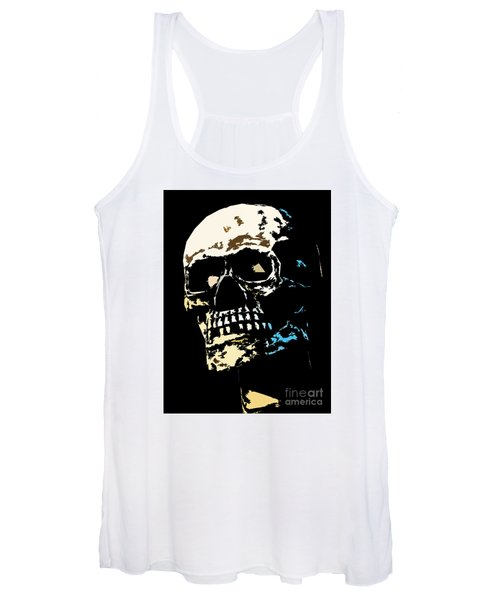 Skull Against A Dark Background Women's Tank Top