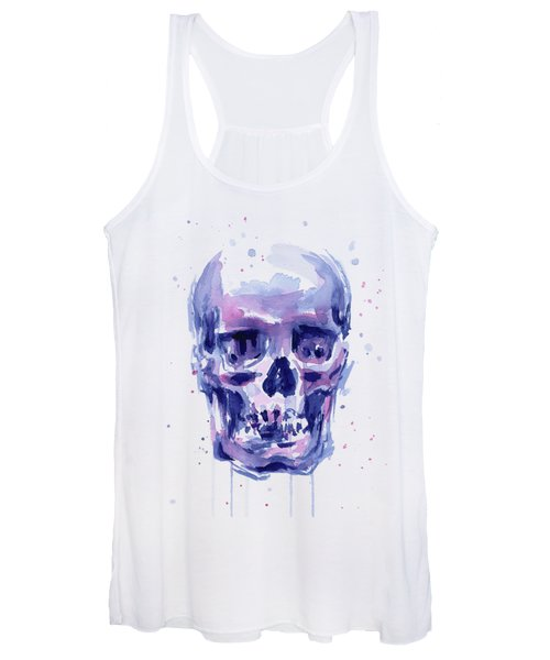 Skull Watercolor Women's Tank Top