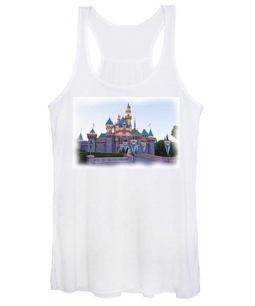 Sleeping Beauty's Castle Disneyland Women's Tank Top