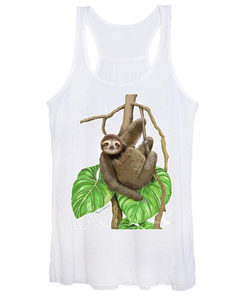 Hanging Three Toe Sloth  Women's Tank Top