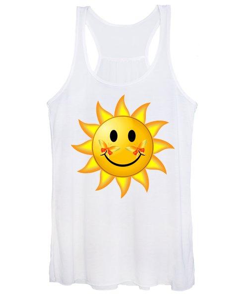 Smiley Face Sun Women's Tank Top