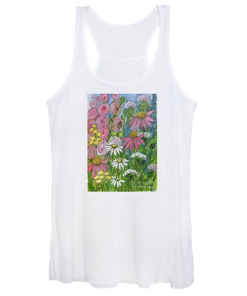 Smiling Flowers Women's Tank Top