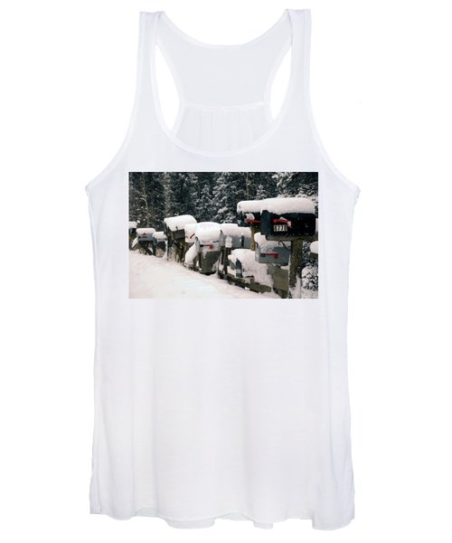 Snow Covered Mailboxes Women's Tank Top
