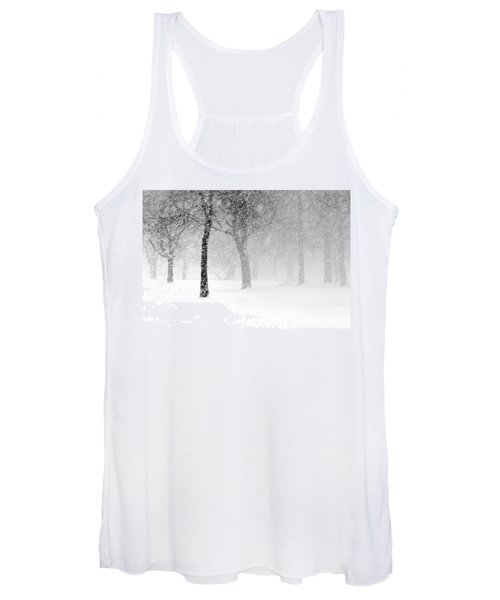 Snow Storm At Starved Rock Women's Tank Top