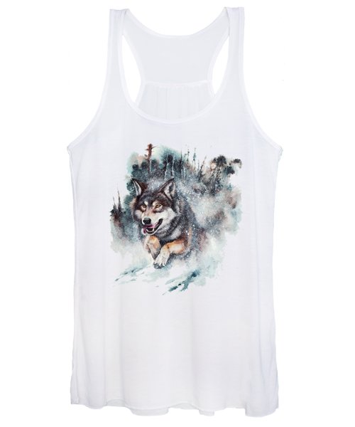 Snow Storm Women's Tank Top