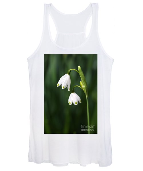 Snowdrops Painted Finger Nails Women's Tank Top