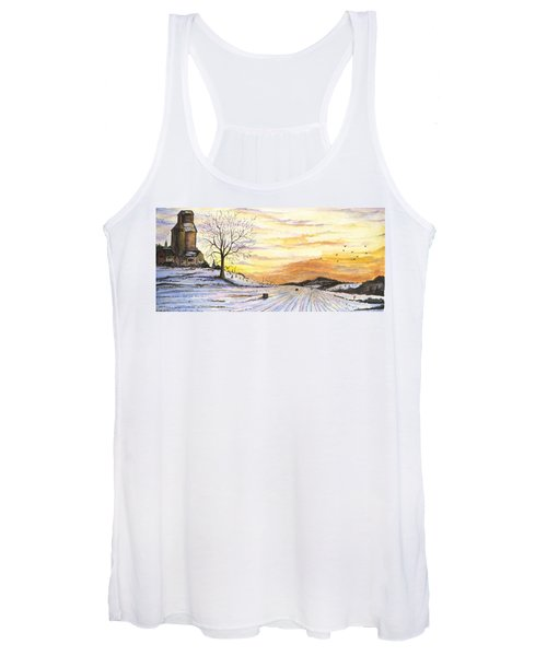 Snowy Farm Women's Tank Top