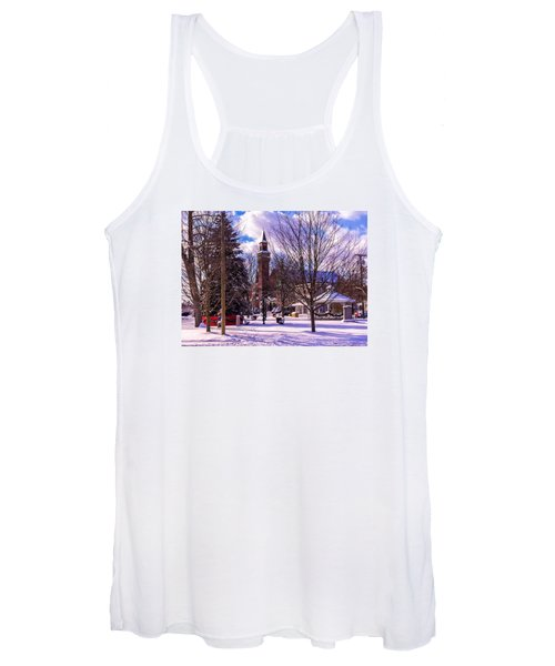 Snowy Old Town Hall Women's Tank Top