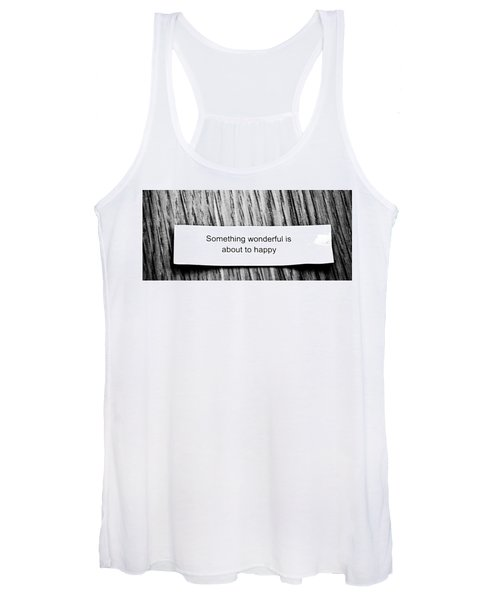 Something Wonderful Is About To Happy Women's Tank Top