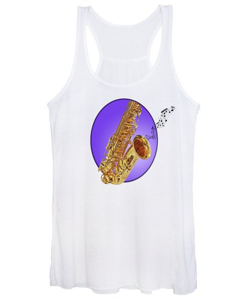 Sounds Of The Sax In Purple Women's Tank Top