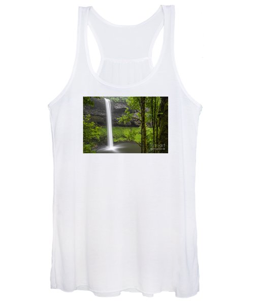 South Falls In Silver Falls State Park Women's Tank Top