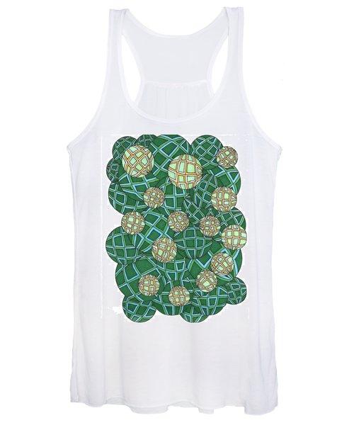 Spheres Cluster Green Women's Tank Top