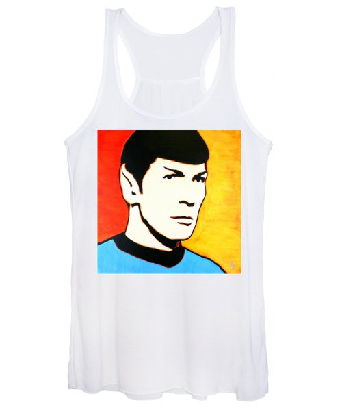 Spock Vulcan Star Trek Pop Art Women's Tank Top