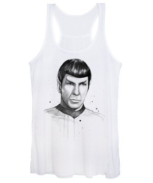 Spock Watercolor Portrait Women's Tank Top
