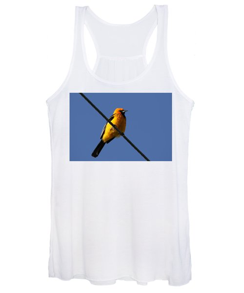 Spot Breasted Oriole Women's Tank Top