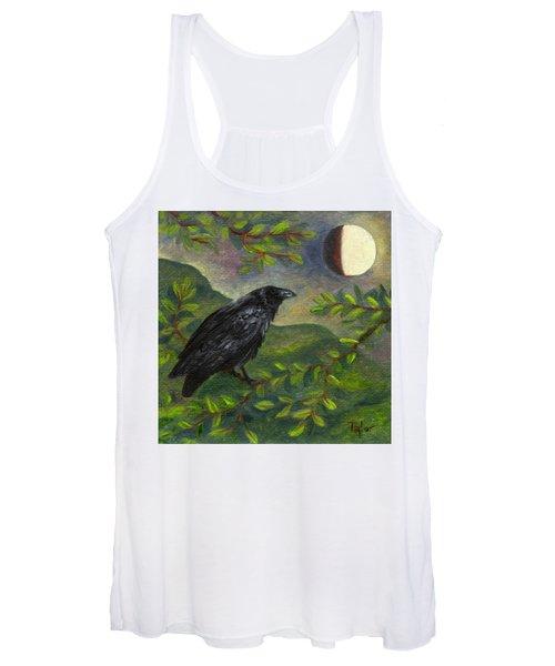 Spring Moon Raven Women's Tank Top