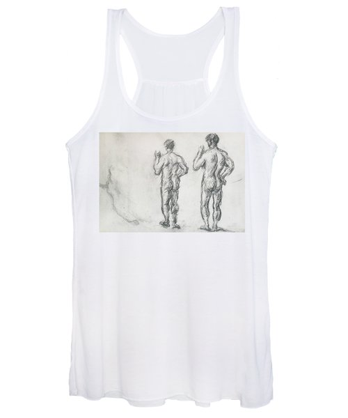 Standing Male Bather  Women's Tank Top