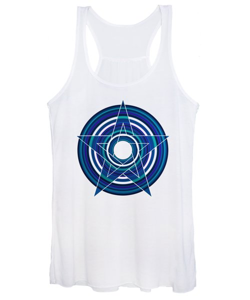 Star Marine Over Concentric Circles Women's Tank Top