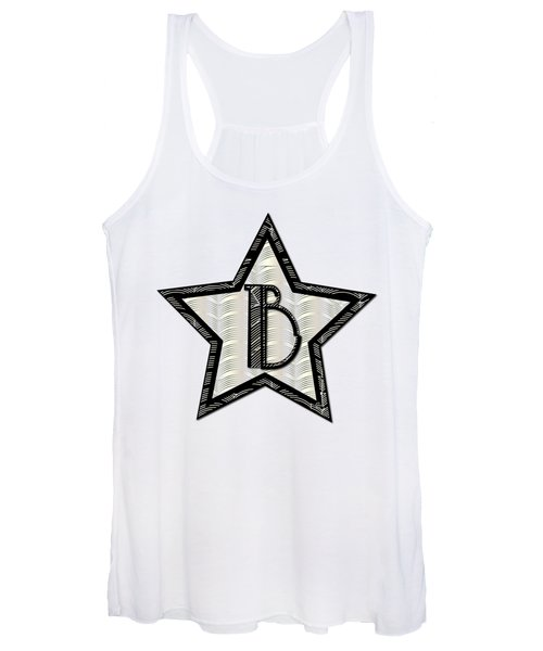 Star Of The Show Art Deco Style Letter B Women's Tank Top
