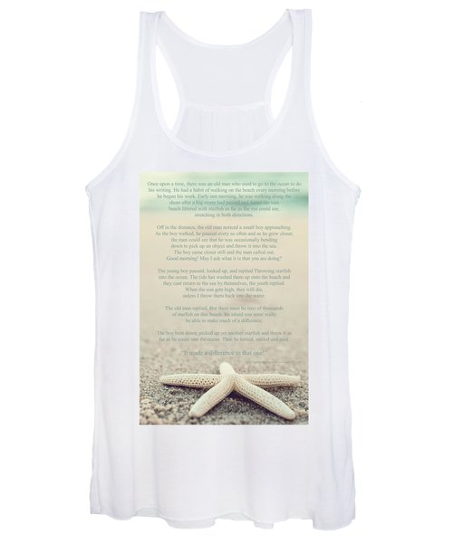Starfish Make A Difference Vintage Set 1 Women's Tank Top