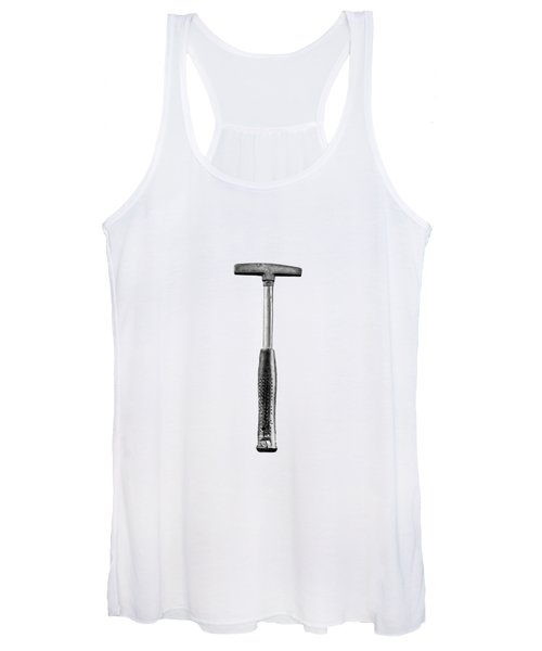 Steel Tack Hammer II On Plywood 74 In Bw Women's Tank Top