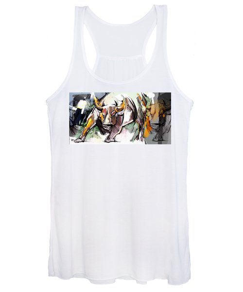 Stock Market Bull Women's Tank Top