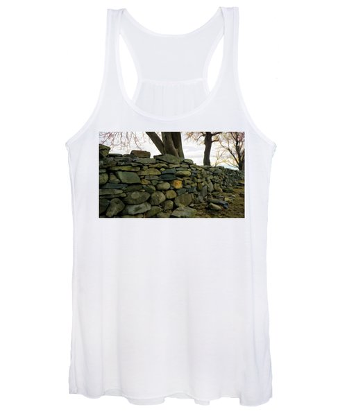 Stone Wall, Colt State Park Women's Tank Top