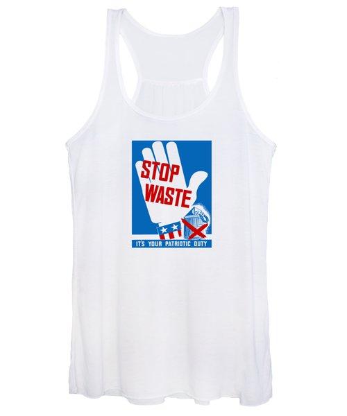 Stop Waste It's Your Patriotic Duty Women's Tank Top