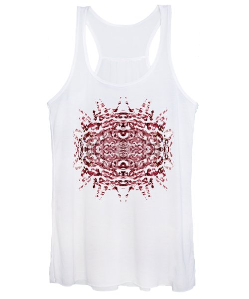 Strawberry Red Abstract Women's Tank Top