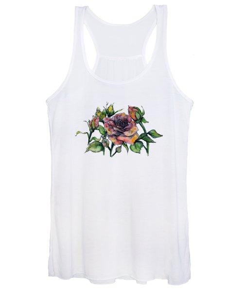 Stylized Roses Women's Tank Top