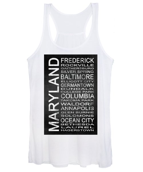 Subway Maryland State 1 Women's Tank Top